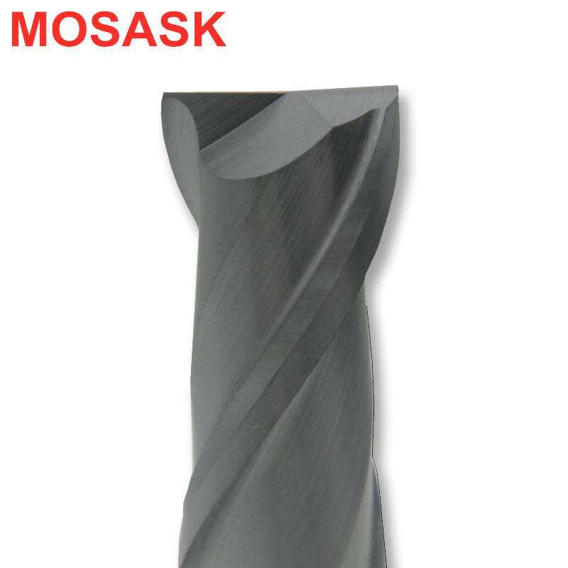 MOSASK 2 Flutes HRC45 Milling Cutter 2MM 3MM 4MM 6MM Tungsten Steel Solid Carbide Tools End Mills