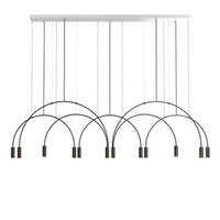 Nordic Modern Line Pendant Lights Designer Dining Room Bedroom Bedside Restaurant Arched Living Room Ring Hanging Lamps Fixture