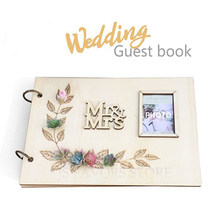 1PCS photo placed with Mr Mrs Simulated succulents for wedding engaged party as gift signature guest book(China)