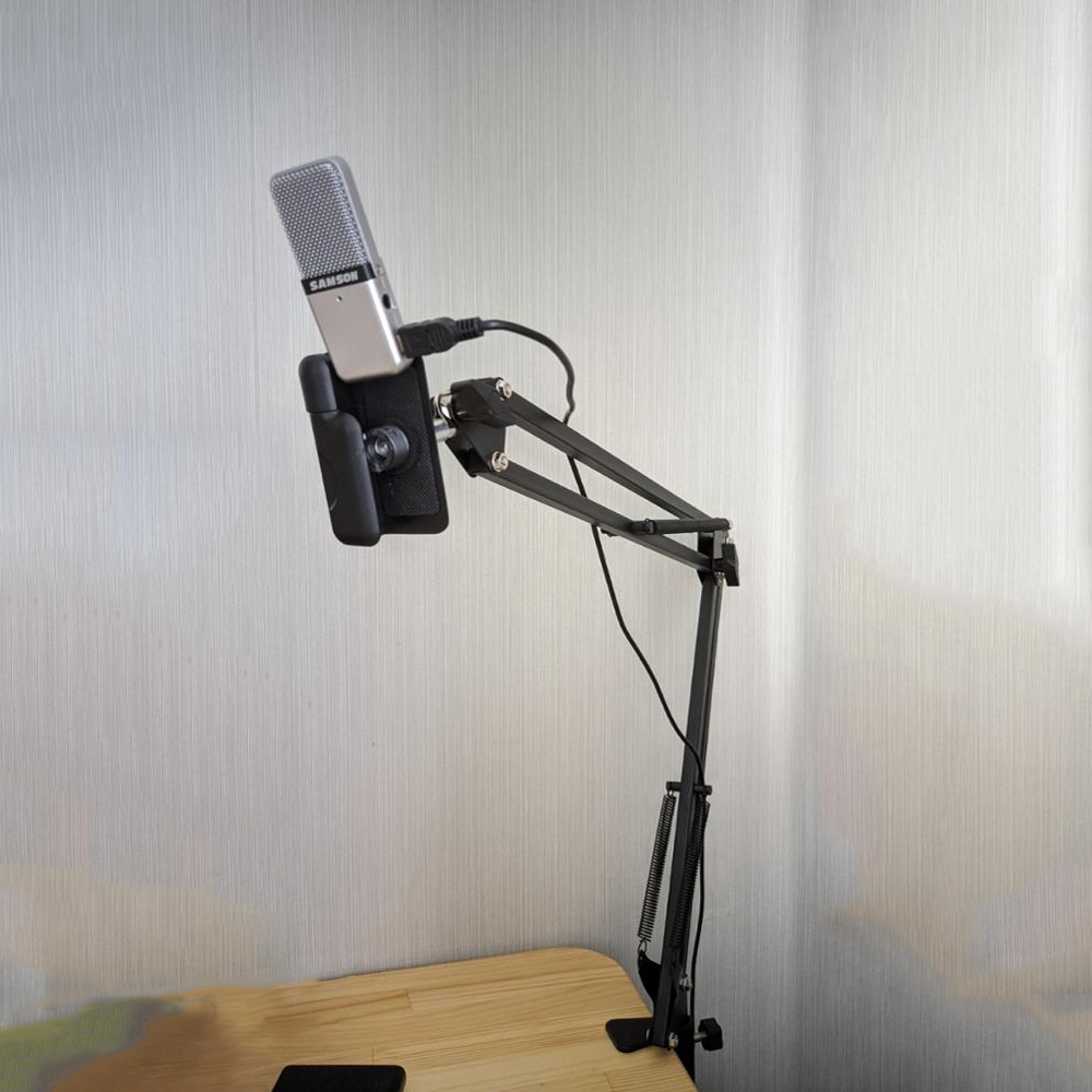 Pro Desktop Microphone Holder Suspension Scissor Arm Microphone Stand Table Mounting Clamp for Samson <font><b>Blue</b></font> Yeti <font><b>Snowball</b></font> image
