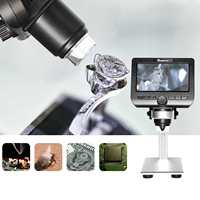 500X WiFi Digital Electronic Microscope USB video Microscope With 4.3 Inches HD LCD Display VGA 8 LED lights
