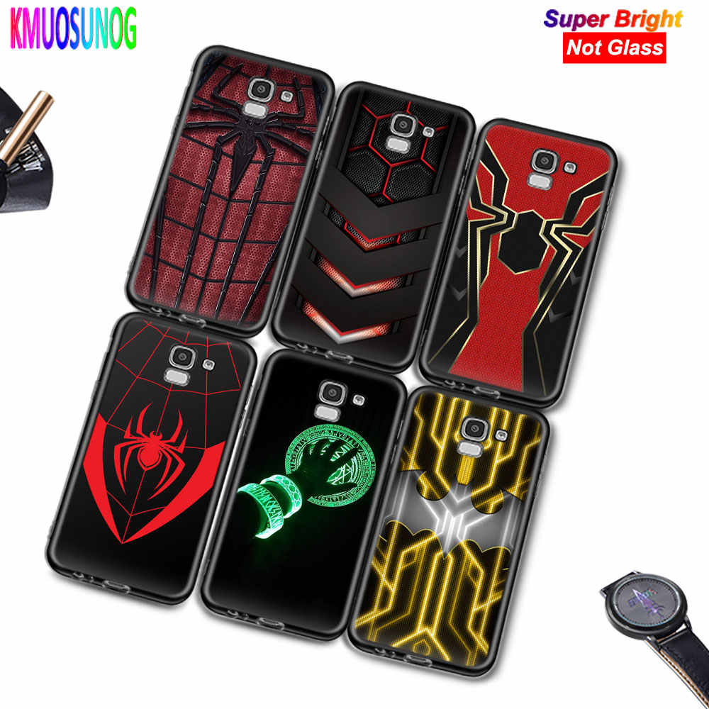 Black Silicone Cover Marvel Iron Spider man for Samsung Galaxy j2 j4 j6 Core Plus j3 j5 j7 j8 2018 2017 2016 Phone Case