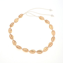 Bohemia Chic Seashell Collar Choker Necklace Summer Beach Fashion Gold Silver Handmade Rope Shell Jewelry For Women Kolye