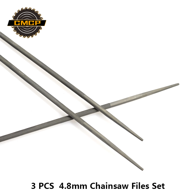 Set Chainsaw Files Sharpening Tool 4.8mm Carbon Steel Accessories Maintenance