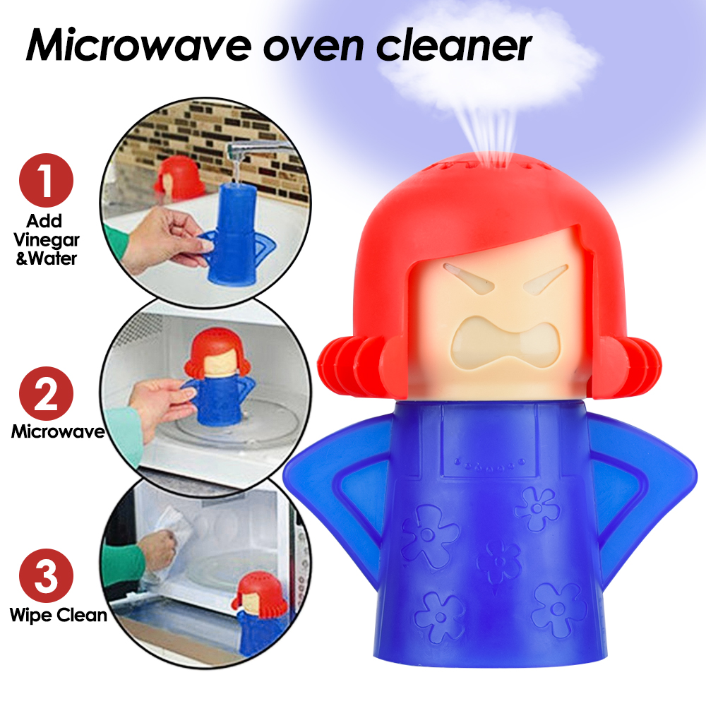 1Pc Microwave Oven Steam Cleaner Volcano Kitchen Cleaning Tools Mama Microwave Cleaner Easily Kitchen Appliances Oven Angry Mama