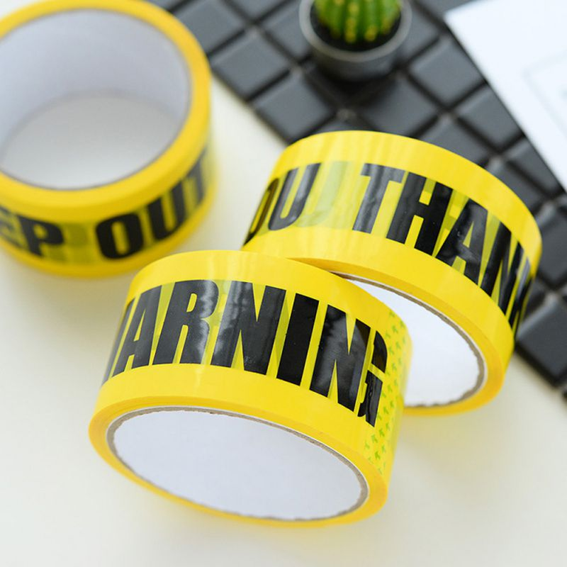 Hot 4.8*25 M Black Color Warning Signs Safety Tape Safety Warning Tape, Roadblock Warning Tape, Barrier Warning Tape