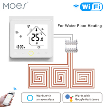 Smart Thermostat WiFi Temperature Controller Water Warm Floor Heating Work With Alexa Google Home Tuya APP Remote Control android iso app operating smart wifi heating thermostat for warm floor