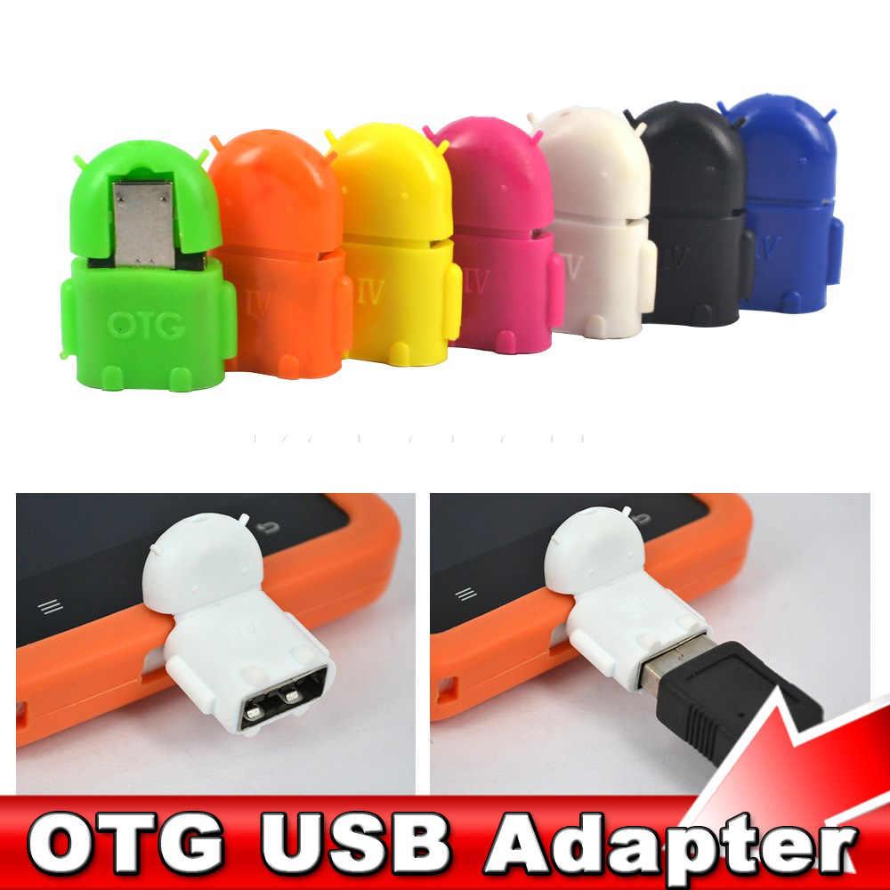 Adaptador Mini Micro Usb Otg para Samsung HTC Xiaomi Sony LG Android OTG lector de tarjetas adaptador USB OTG