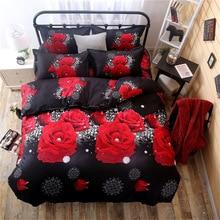 Комплект постельного белья с рисунком красной розы, детский пододеяльник, наволочка для мальчиков и девочек, 1,2 м, 1,5 м, 2,0 м
