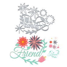 DiyArts Flower and Letter Metal Cutting Dies Scrapbooking Craft Embossing Stencil Die Cut Card Making New for 2019