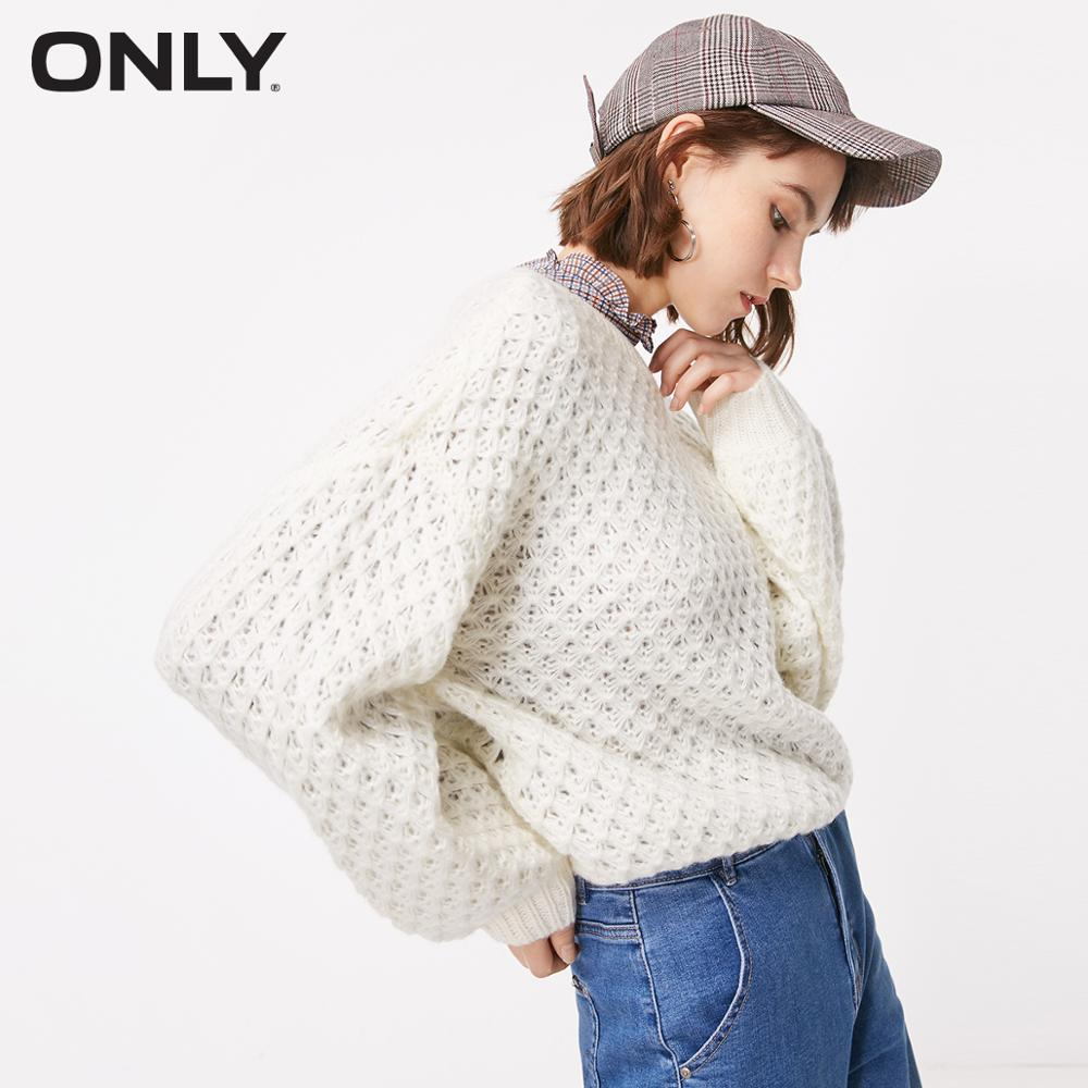 ONLY Autumn New Round Neck Pullover See-through Sweater  |  118313509