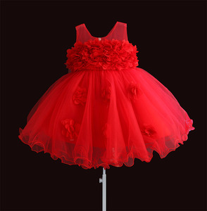 Image 5 - 女の赤ちゃんドレスレースの花の子供服王女のウェディング洗礼子供着用 1 年の誕生日 vestido infantil 6M 4Y