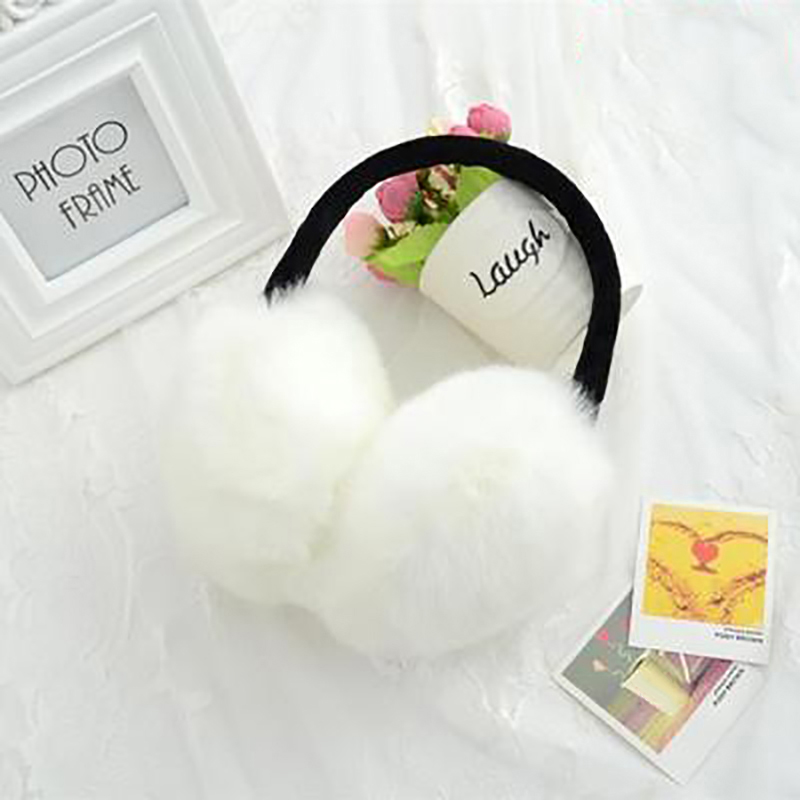Warm Rabbit Fur Earmuffs Autumn And Winter Warm Essential Fashion Imitation Fur Earmuffs