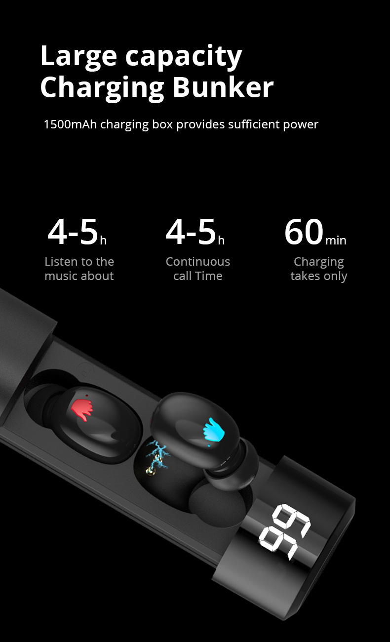 TWS Q67 Bluetooth Earphone 5.0 Wireless Earbuds 3D Stereo Mini With Dual Mic Sports Waterproof Earphones Auto Pairing Headse