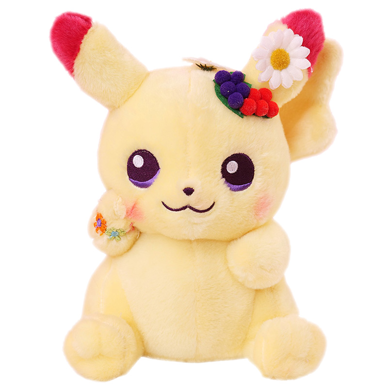 Wreath Pikachu Cute Easter plush series soft quality embroidered doll for friend Children Holiday gift toys image