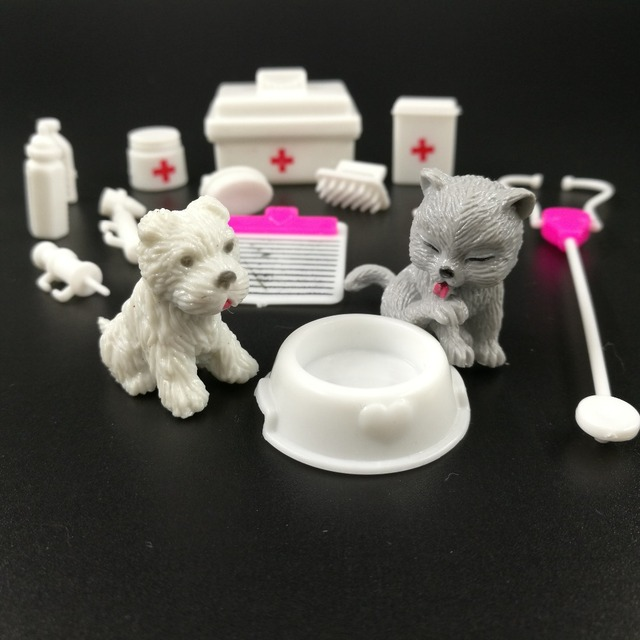 Baby Doll Playset Medical equipment kit Girl Pretend Play Toy Supplies Doll Pet For Barbie Kid Doll Accessories House Decoration