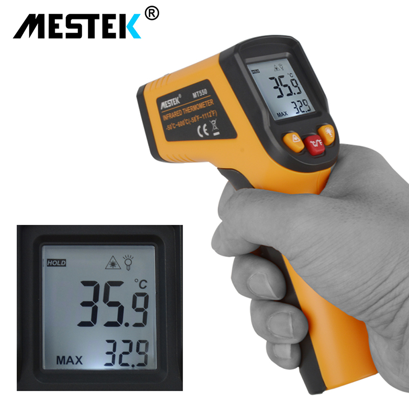 -50 To 600 Degree Pyrometer Digital Thermometer Laser Outdoor Electronic Infrared Ir Thermometer Temperature Remote Sensor