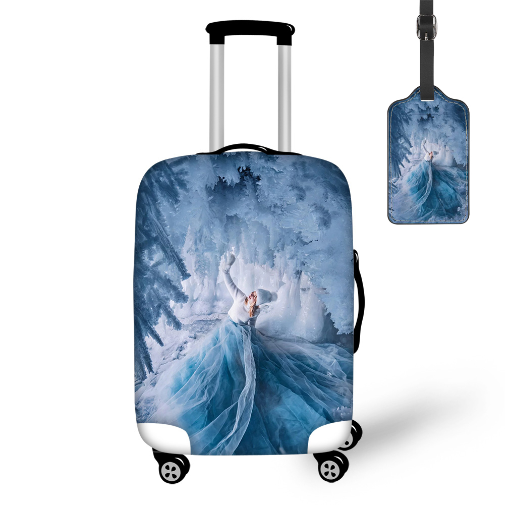 THIKIN 2020 New Arrival Frozen Baikal Fairy Dress Print Travel Luggage Cover With Tag Pretty Case Covers For Tourism Convenience