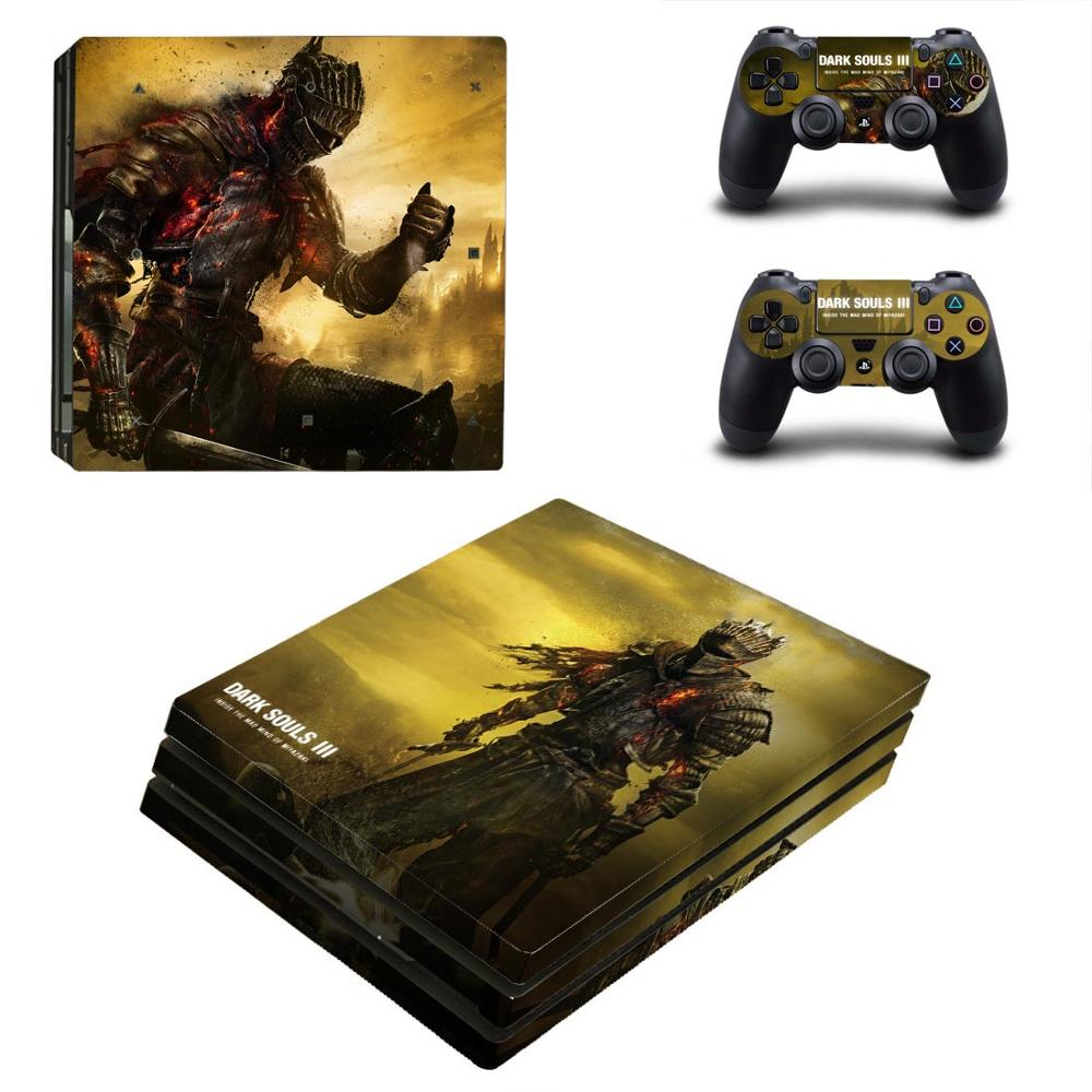 Dark Souls PS4 Pro Stickers PS 4 Play station 4 Pro Vinyl Skin Sticker Pegatinas For PlayStation 4 Pro console and controller image