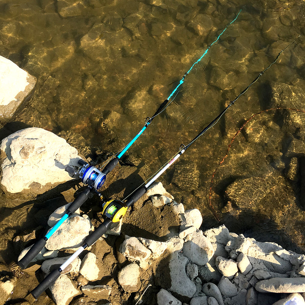 GHOTDA Ultra Light Fishing Rod with Casting and Spinning Handles and Stable and Strong Reel Seat 5
