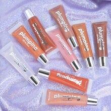 9 cores plumping labial gloss labial plumper hidratante brilhante cereja volume matiz batom maquiagem cosméticos coreano tslm1
