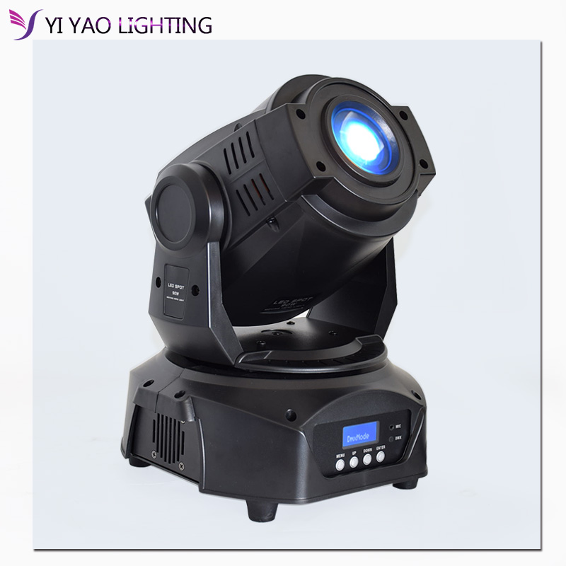 Lyre 90W Led 3-Prism Spot Moving Head Stage Light DMX Control For Disco Wedding Party Dj