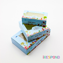 10 PCS Paper Gift Box Wedding Candy Cookie Sweet Cake Boxes With Window Flower Party Kids Birthday Favors