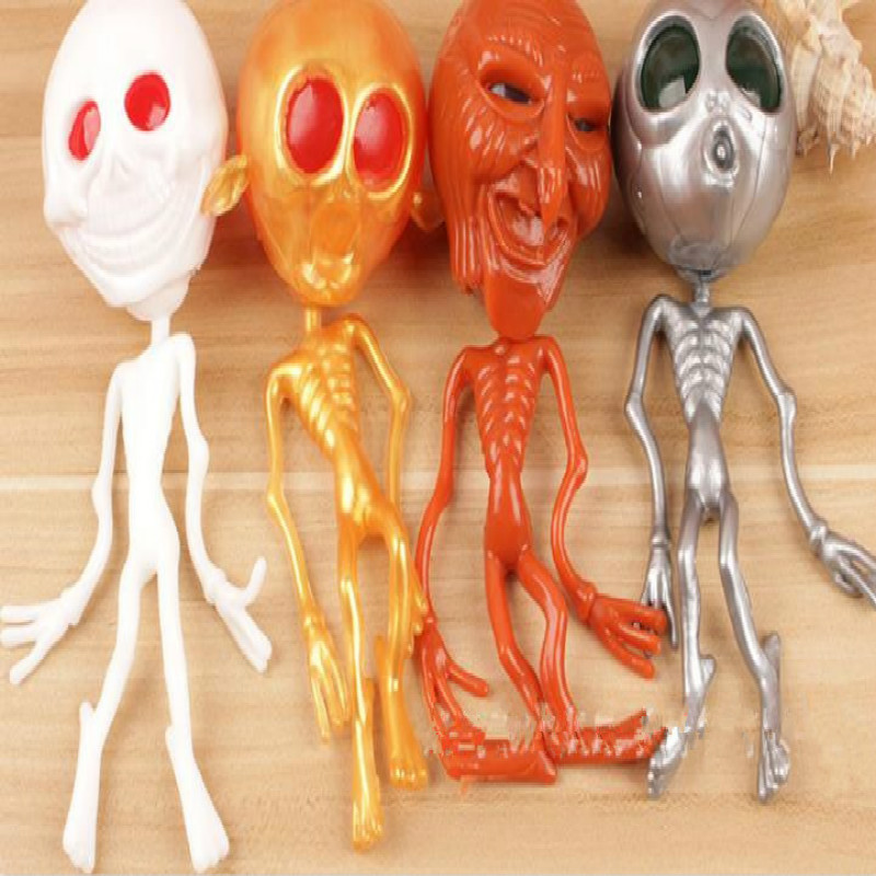 1pc Ghost Head Shape Venting Toys Release Stress Ball Rubber Squeeze Skull Alien Toy About 18cm