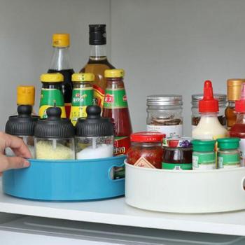 360 obracanie tacy kuchnia pojemniki do przechowywania przyprawy płyta przekąska owoców taca gastronomiczna antypoślizgowe łazienka suszone stojak na talerze tanie i dobre opinie CN (pochodzenie) Kitchen Storage Tacki do przechowywania Ekologiczne ABS+TPR CW288576Kitchen Storage