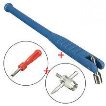 Accessories Motorcycle-Remover Repair-Tool-Kit Valve-Stem-Core Metal Car 3pcs Puller-Tube