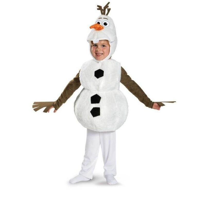 High Quality Child Olaf Halloween Costume For Toddler Kids Favorite Cartoon Movie Snowman Party Dress