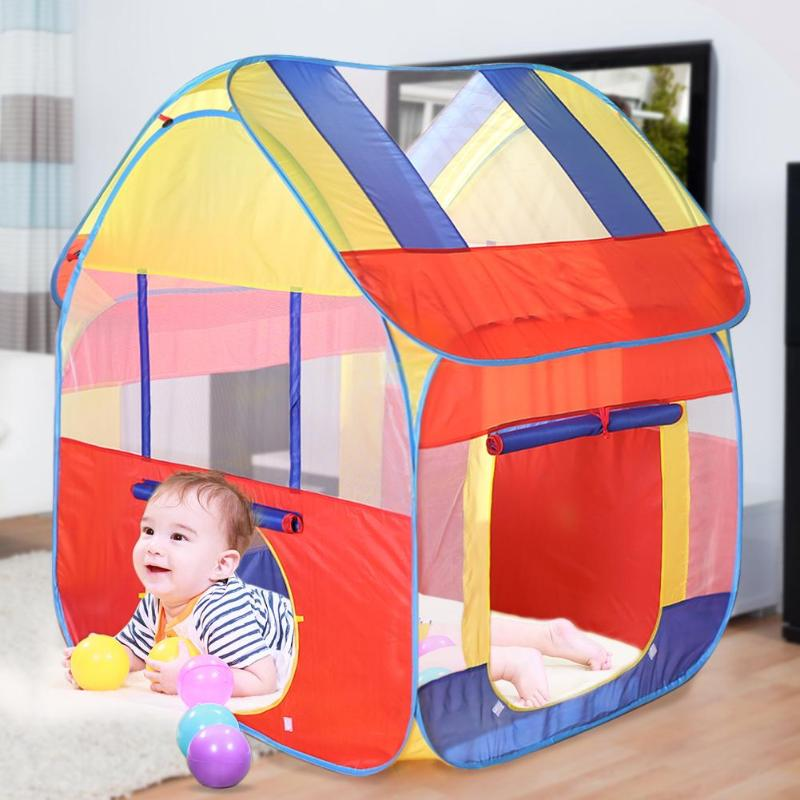 Children's Tent Ocean Ball Pool Pit Game Play Hut Girls Garden Playhouse Play House Tent For Children Kids Indoor And Outdoor