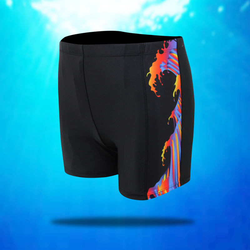 Men's Swimming Trunks Fat Oversized Men's Plus-sized Swimming Trunks Lard-bucket Boxer Swimming Trunks Special Loose-Fit Underpa