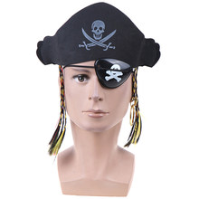 Halloween Party Favor Party Supplies Pirate Prop Prop Set with Pirate Eye Mask Pirate Hat Pirate Ring(China)
