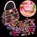 DIY Handgemachte Perlen Spielzeug Für Kinder Kreative Mädchen Geschenk Schmuck Perlen Machen Schnürung Halskette Armbänder Pädagogisches Spielzeug Mit Tasche