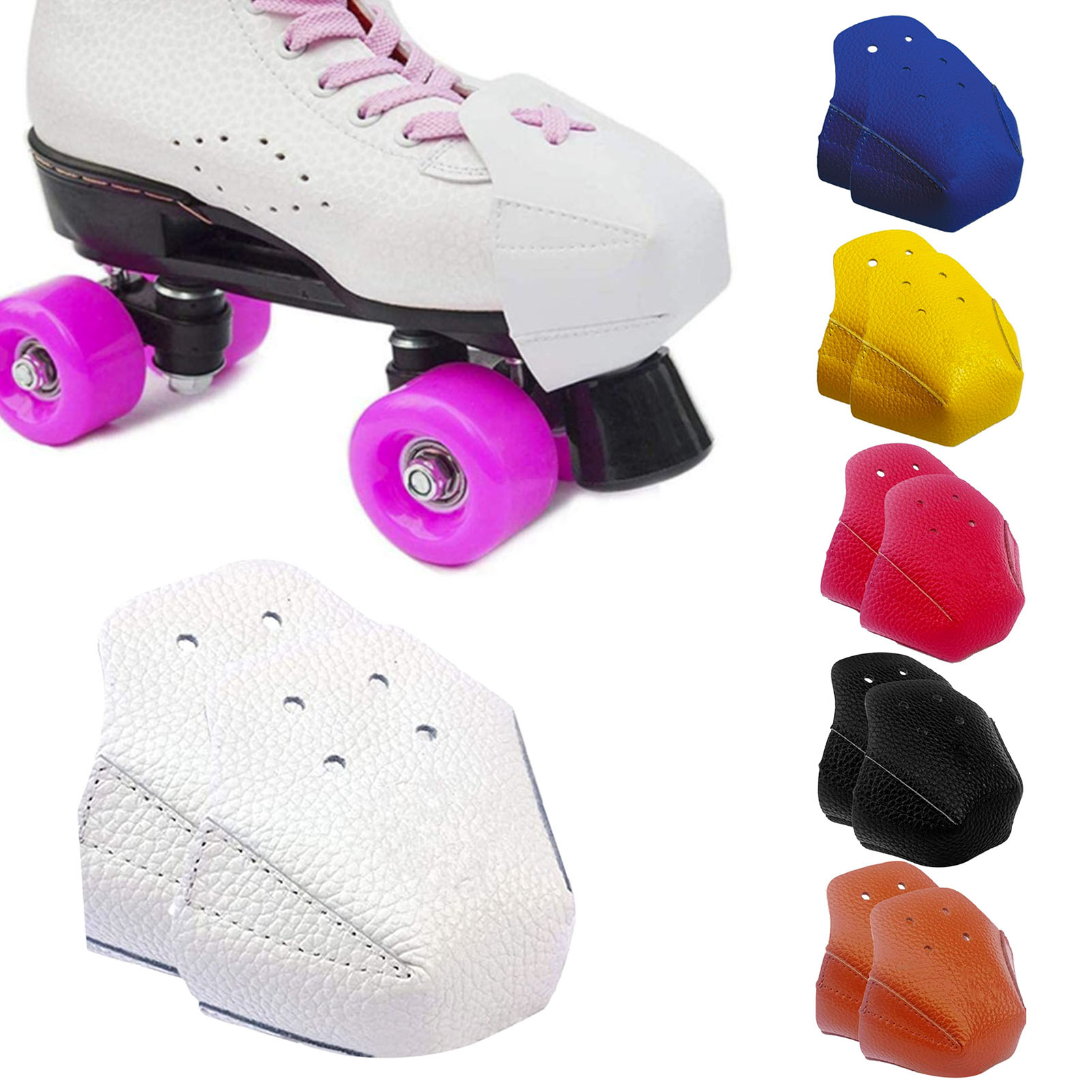 1 Pair Protective Skates Head Toe Cap For Toe Protector Inline Skates Roller Skating Shoes Leather Toe Cap Guard Roller