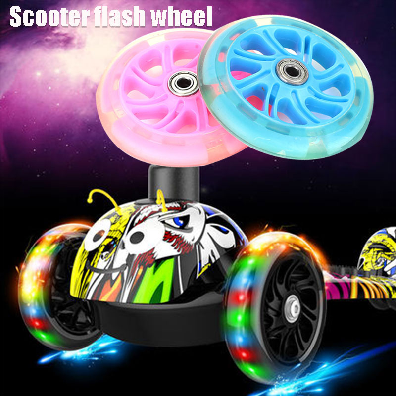 Four Wheel Scooter Longboard Skateboard Wheel Single Warping Slide 2 Color PU Shopping Cart Casters 120mm Scooter Wheel