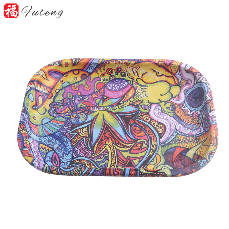 18cm*14cm Smoking Accessories Tobacco Rolling Tray Rolling Papers Cigarette Tool Small Tray Tobacco Storage Plate Herb Grinder 2