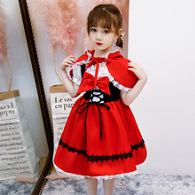 Halloween Children's Clothing Girls Little Red Riding Hood Cosplay Cosplay Lolita Princess Dress Witch Clothes cosplay red