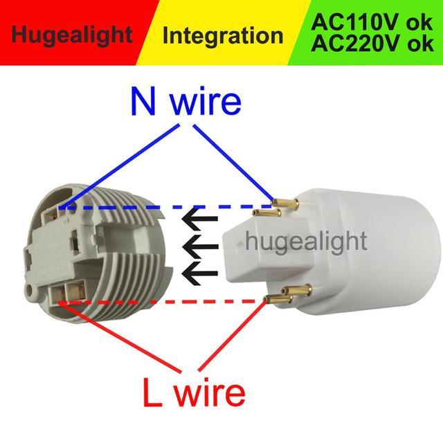 Super Promo 977e Adapter E27 To G24 Base G24q To E27 Led Light Bulb Lamp Adapter Converter Holder Lamp Base Converter New Arrival Cicig Co