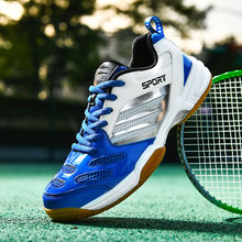 Spring Autumn Breathable Badminton Sneakers Men Badminton Shoes Light Weight Tennis Shoes Big Size 38-48 Volleyball Sneakers