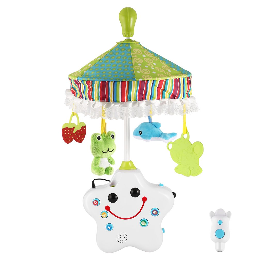 Baby Rattles Projection Crib Musical Mobile Baby Boy & Girl Bedding Rattle Toy Music Bed Ring Crib Bell With Hanging Rotating