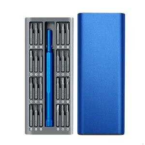 Image 2 - 25 In 1 Professionele Precisie Mini Draagbare Magnetische Schroevendraaier Set Pocket Diy Hand Voor Laptop Mobiele