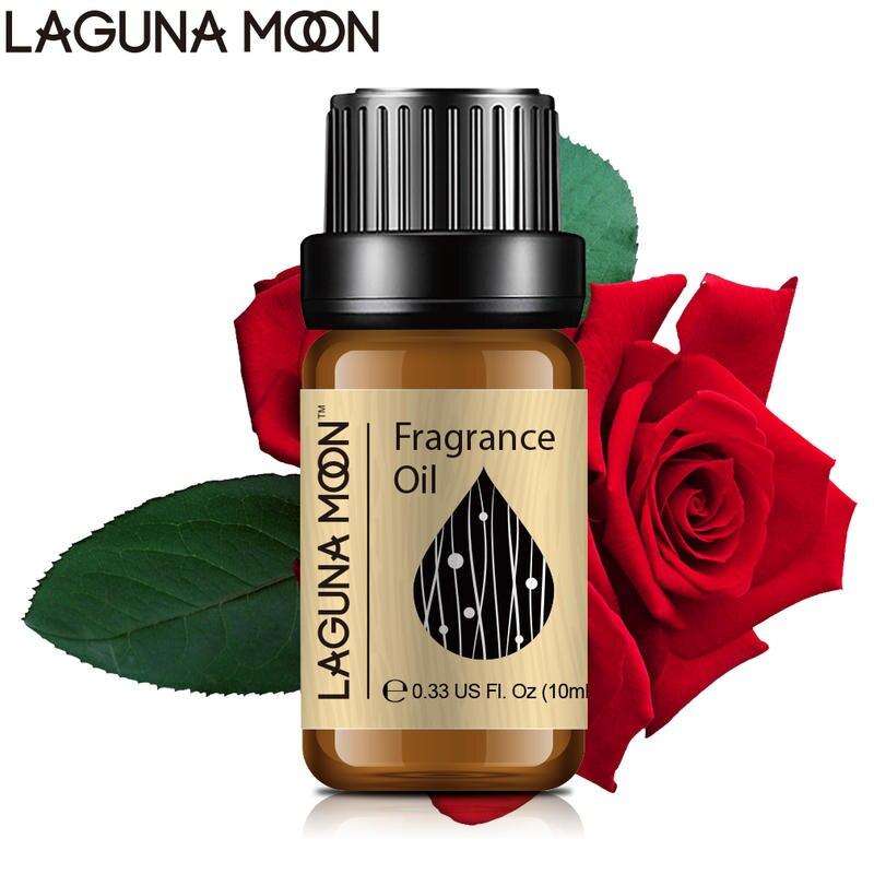 Lagunamoon Rose 10ml Fragrance Oil Eucalyptus Bergamot Frankincense Lime Basil & Mandarin Diffusers Soap Candle Essential Oil
