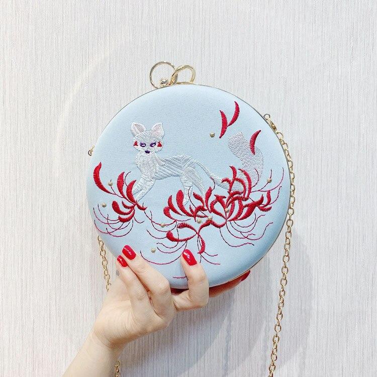 Сумка-мессенджер с вышивкой Cheongsam, китайская ручная сумка с вышивкой, новинка, ручная сумка, вечерние сумки - Цвет: 08