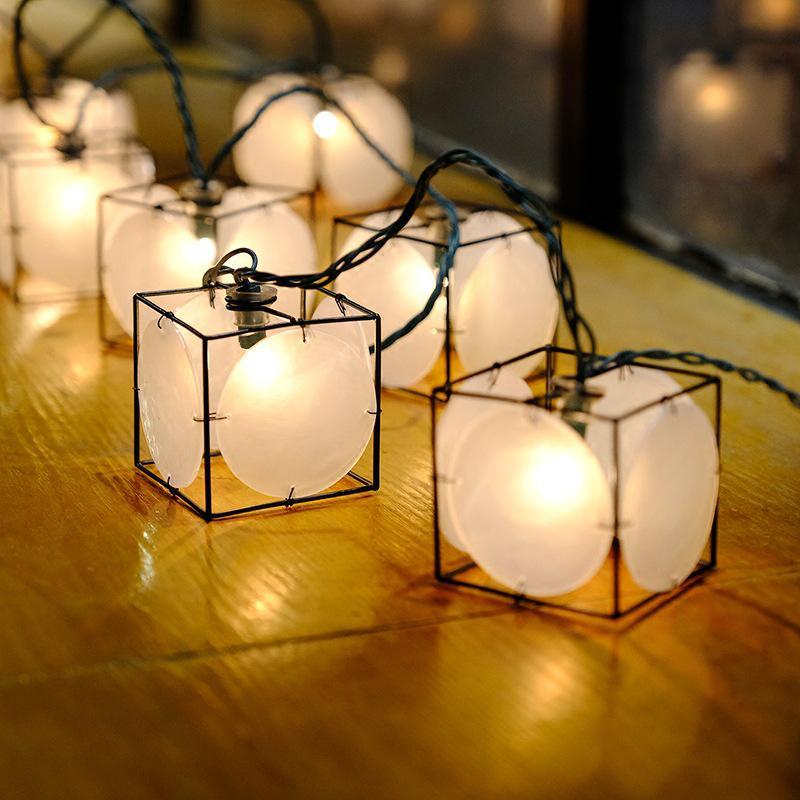 DishyKooker 3M 20LEDs Retro Waterproof Iron String Light for Christmas Outdoor Decor Plug Style LED Modules     - title=