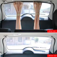 2Pcs Universal Luxus VIP Auto Van SUV Fenster Vorhang UV Sonnenschirm Visier Kit Hinten Fenster Sonnenschutz Auto Zubehör