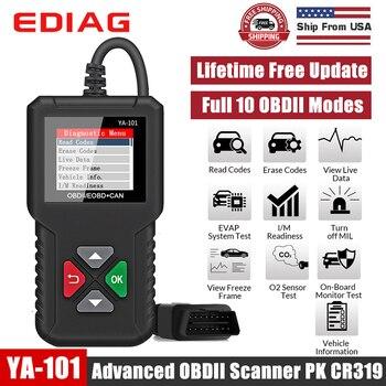 Herramienta de diagnóstico de fallos de motor PK CR3001 CR319 AD310, escáner de código para coche automotriz YA101 OBD OBD2