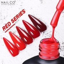 Nailco vermelho série gel unha polonês para unhas manicure verniz base revestimento superior uv led gel arte verniz lacque líquido
