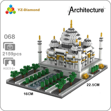 цена YZ 068 World Famous Architecture Taj Mahal Palace DIY 3D Model Mini Building Diamond Small Blocks Bricks Toy for Children no Box онлайн в 2017 году